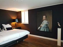 Photo de nos clients: Portret van een meisje in het blauw, Johannes Cornelisz. Verspronck, sur toile