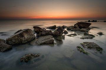 Rotspartij in de Adriatische zee von Jenco van Zalk