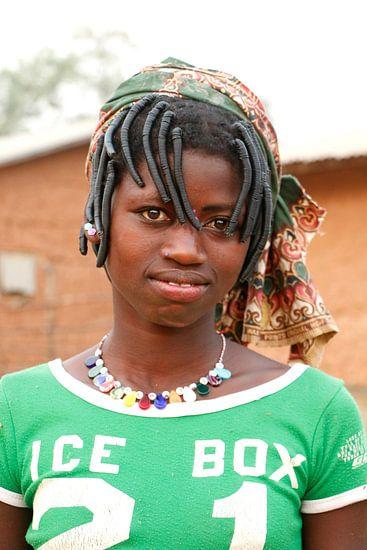 Meisje van de Peulh stam  van Cora Unk
