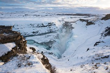 Gullfoss Wasserfall, Island, Europa von Alexander Ludwig