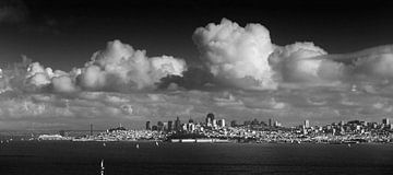 Wolken über San Francisco von Wim Slootweg