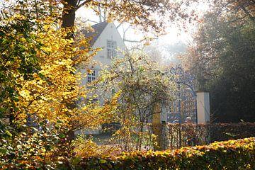 Haus Riensberg in de herfst, Bremen, Duitsland, Europa van Torsten Krüger