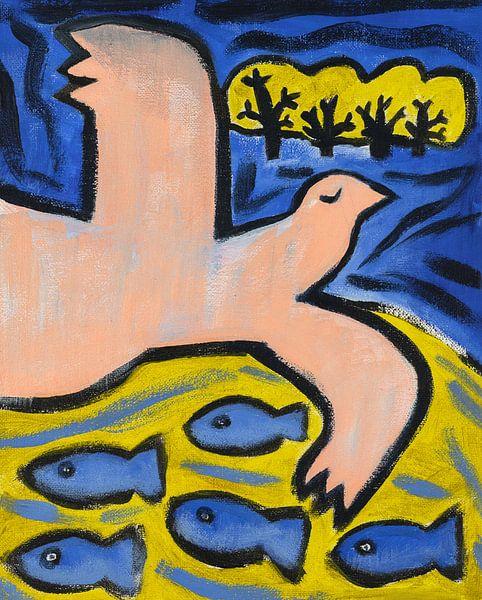 vogel, paard en vissen (1) van Verbeeldt