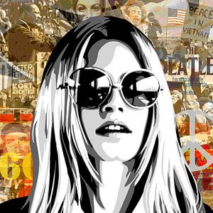 Brigitte Bardot- 'Sixties' van Jole Art (Annejole Jacobs - de Jongh)