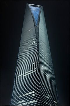 World Financial Cente Wolkenkratzer in Pudong District Shanghai 1 von Tony Vingerhoets