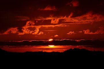 Zonsondergang op Terschelling von Debora van Tilborg