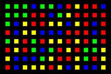 Nested | Center | 12x08 | N=01 | Random #03 | RGBY van Gerhard Haberern