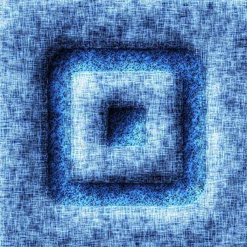 Abstrakt Stil Quadrate Blau von Hendrik-Jan Kornelis