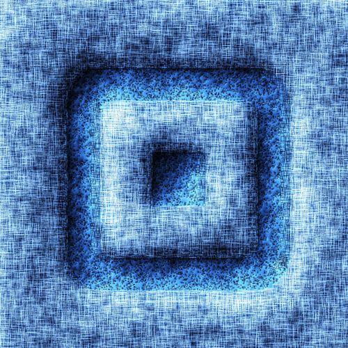 Abstract Stijl Vierkantjes Blauw