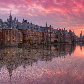 Het Torentje en Binnenhof weerspiegeld in Hofvijver Den Haag van Rob Kints