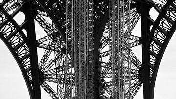 Eiffel's constructie lijnenspel van Betty van Engelen