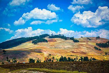 Lassen Sie Sonnenlicht auf den Hügeln des Heiligen Tal, Peru von Rietje Bulthuis