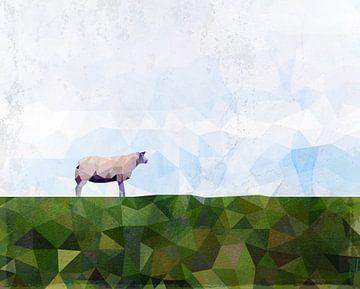 Schaf auf dem Deich von Erik-Jan ten Brinke