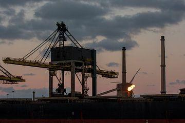 Ochtend in de haven van scheepskijkerhavenfotografie