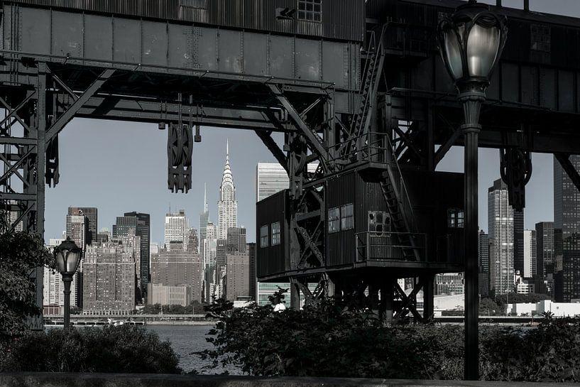 Manhattan von Long Island / Queens  van Kurt Krause