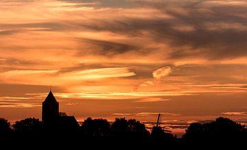 Zalk na zonsondergang von Erik Veldkamp