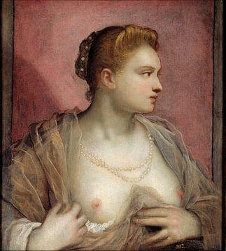 Jacopo Tintoretto. Porträt einer Frau, 1550 von