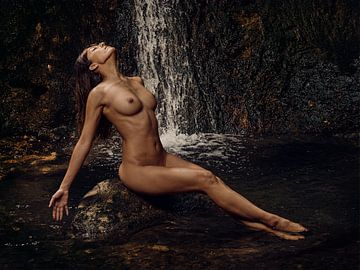 Bad am Wasserfall