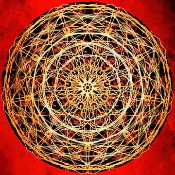 Mandala - vurig van Christine Nöhmeier