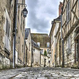 Bourges, Rue de l'hotel de l allemant sur Frans Blok