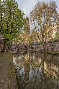 Domtoren, Oudegracht  en Gaardbrug in Utrecht