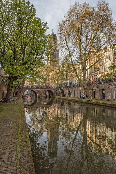 Domtoren, Oudegracht  en Gaardbrug in Utrecht van Tux Photography