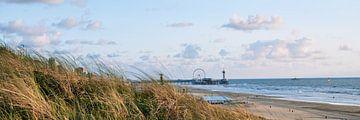 Panorama Scheveningen Strand Pier - Den Haag van Lampe Productions