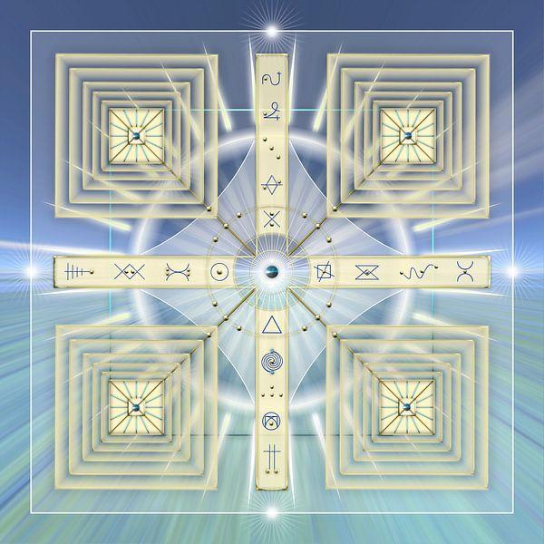 Energiepatroon met lichtcodes van Shirley Hoekstra