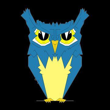 wijze uil (vogel) van Marcel Kerdijk