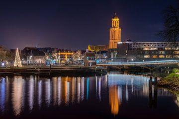 Stadtbild von Zwolle mit Peperbus von Fotografie Ronald