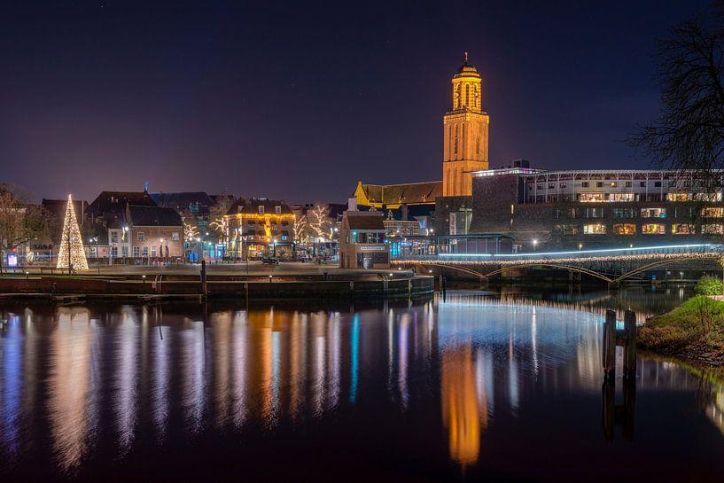 Stadsgezicht van Zwolle met Peperbus van Fotografie Ronald