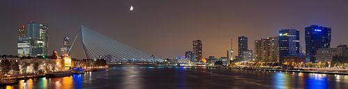 Panorama Flussgebiet in Rotterdam von