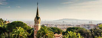 Zicht op Barcelona van Eddo Kloosterman