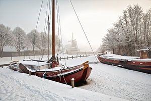 Winters tafereel in Sloten