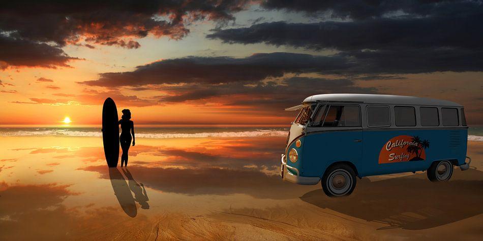 California surfing