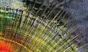 Licht in de duisternis abstracte zon van Ingrid van El