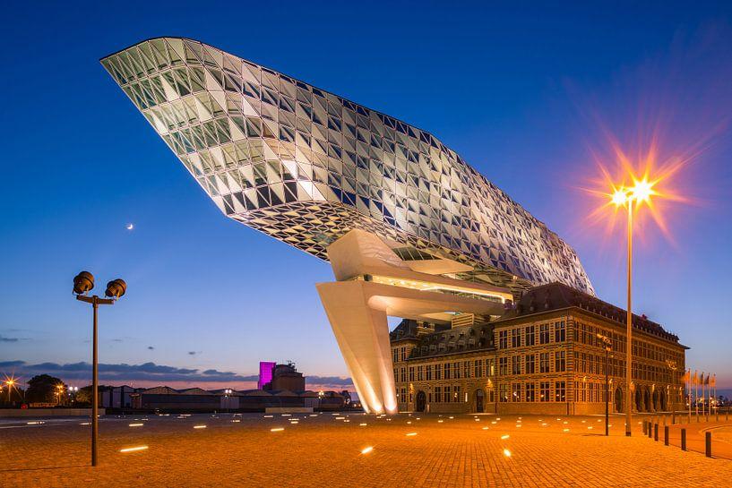 Hafenhaus, Antwerpen, Flandern, Belgien von Henk Meijer Photography