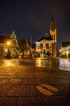 Straatbeeld van Breda tijdens kerst 2020 (COVID jaar)