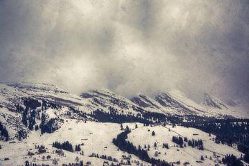 Churfirsten in de wolken van Nicc Koch