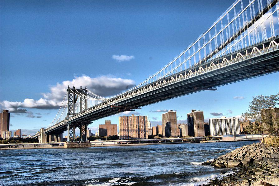 Manhattan Bridge New York van Tineke Visscher