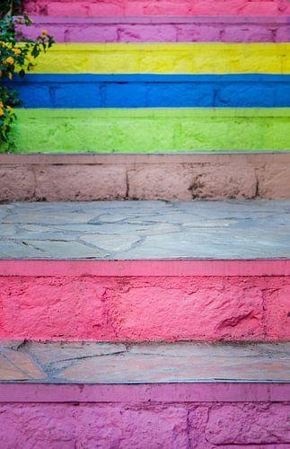 Kleurrijke trap van
