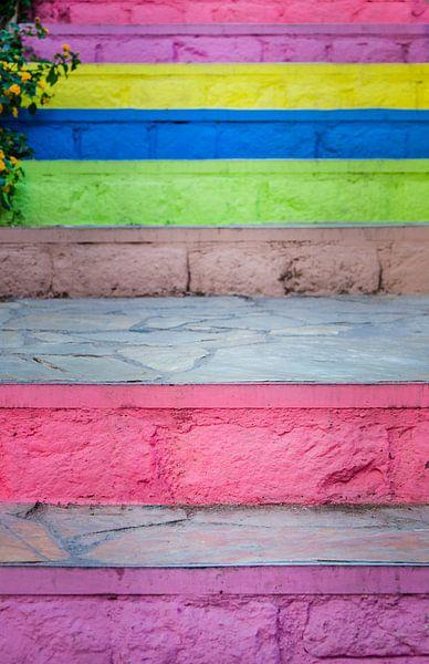 Kleurrijke trap van Cynthia Hasenbos
