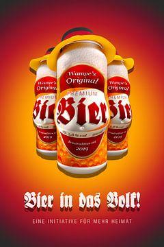 Bier voor de mensen! persiflage van Jörg Hausmann
