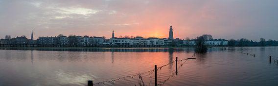 Panorama zonsopkomst in Zutphen van Marcel Pietersen