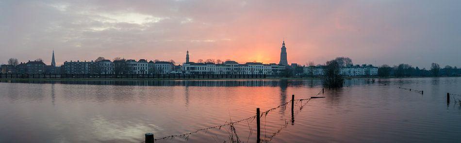 Panorama zonsopkomst in Zutphen