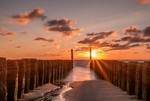 Gouden uur aan de Nederlandse kust