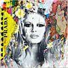Brigitte Bardot Plakative Collage - Dadaismus - Nonsens von Felix von Altersheim Miniaturansicht