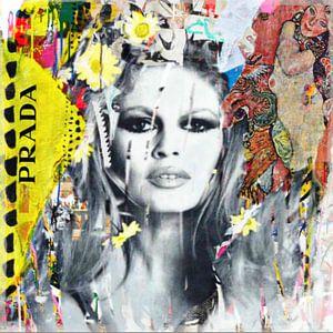 Brigitte Bardot Plakative Collage - Dadaismus - Nonsens