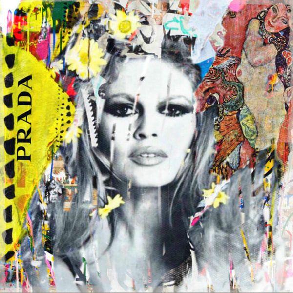 Brigitte Bardot Plakative Collage - Dadaismus - Nonsens von Felix von Altersheim