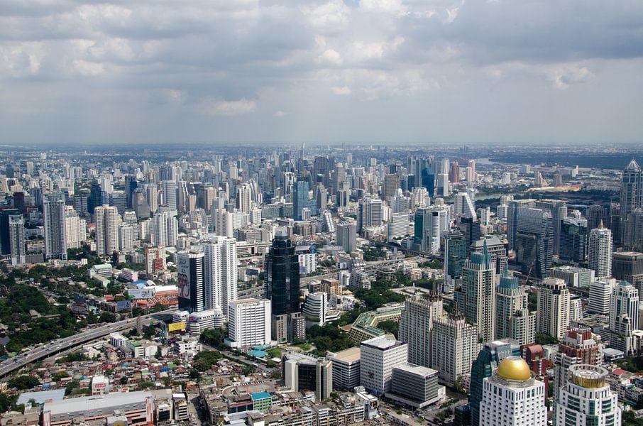 Skyline van Bangkok in Thailand